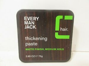 Every Man Jack - Thickening Paste Matte Finish - Medium Hold (2.65 oz.) NEW