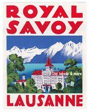 Royal Savoy Hotel LAUSANNE Suisse luggage label Kofferaufkleber – BRÜGGER  x0455