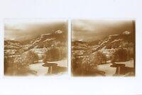 Francia Neige Montagne Foto Stereo Placca Da Lente Th4n31 Vintage