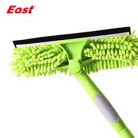 East Useful Magic Long Pole Window Brush Glass Cleaner Chenille Wipe Rotary
