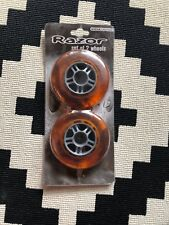 Razor Scooter Set Of Two Wheels Orange . No Bearings Included.