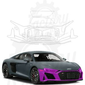 Paint Protection Film Clear PPF for Audi R8 Coupe 2020-2021 Front Bumper + Light