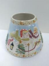 Yankee Candle Luster Snowman Family Christmas Jar Shade Topper