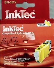 InkTec bpi-521y L/N 4531 Yellow Pour pour Canon Pixma notamment NOUVEAU neuf dans sa boîte