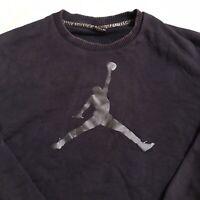 Nike Air Jordan Flights Mens 3XL Navy Blue Crewneck Sweatshirt Pullover