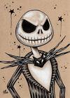 Nightmare Before Christmas Jack Skellington drawing art print Halloween SIGNED