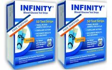 INFINITY (100) Blood Glucose Test Strips NEW & FRESH, FREE SHIPPING 100%