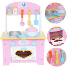 Childrens Kids Pink Wooden Toy Play Kitchen with 20 piece + Accessories XMASGift