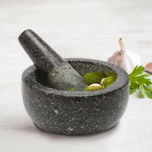 Homiu Premium Solid and Durable Natural Granite Pestle and Mortar, Kitchen Tools