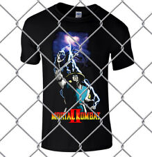 Mortal Kombat 2 Raiden men's black premium t shirt loose fit 100% cotton