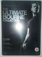 Matt Damon Ultimate Bourne Collection - Identity,Supremacy,Ultimatum - Steel Box
