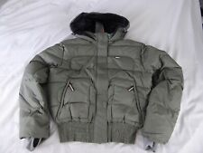NIKE WOMENS PADDED BOMBER SKI JACKET WITH DUCK DOWN & FEATHERS - SIZE M - NEW