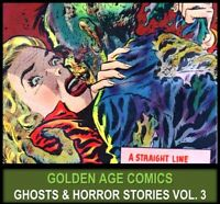GOLDEN AGE HORROR HAUNTED TALES COMICS Books Lot in DVD Thriller Chills Mutiny 3