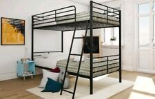 Mainstays Twin over Twin Metal Bunk Bed, Black (does not include mattress)