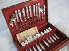 1951 KING EDWARD 52pc 8Pl National w/ Chest Silverplate Flatware Silver