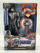 Avengers Endgame Titan Hero Power Fx Captain America 12Inch Action Figure Hasbro