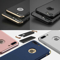 Slim Chrome Hybrid Armour Shockproof Case Cover For Apple iPhone 8 7 Plus 5s 6s