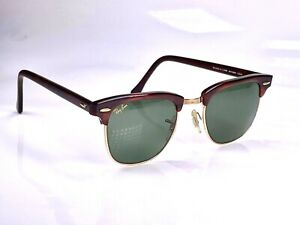 Vintage 1980's B&L Ray Ban Clubmaster W0366 Sunglasses & Case