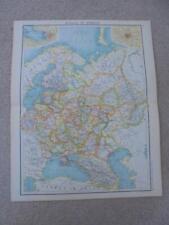 MAP c1900 RUSSIA IN EUROPE  BARTHOLOMEW ATLAS COLOUR LITHOGRAPH