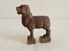 Vintage Old Hand Carved Rose wood Leopard Figurine/Statue Decorative collectible