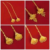 Indian Designer Traditional Bollywood Earrings GoldPlated Chain Women Jewelry
