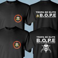 NEW BOPE Brazil Special Elite Forces Military Black Tropa De Elite Black T-shirt