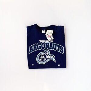 Vintage Toronto Argonauts STARTER T-shirt Size XL Blue CFL Spell Out NWT New