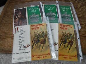 Horse Racing Programs HofFer  Dark Mirage  Lot of 5