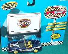 RC 1998 CHEVY CORVETTE INDY 500 PACE CAR w BILLBOARD/LICENSE PLATE 1/43 O Scale