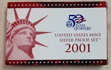 2001 US MINT SILVER PROOF SET - Complete w/ Original Box and COA