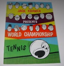 JACK KRAMER WORLD CHAMPIONSHIP TENNIS PROGRAMME 1959/60-HOLDEN & AMPOL ADVERT