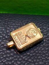 Swiss Made FHB Uhr Horlogeurs Schweiz Vergoldet Goldbarren Optik Analog Watch