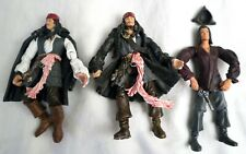 Pirates of the Caribbean Captain 2 Jack Sparrow figures & 1 Will Turner Zizzle