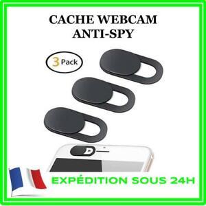 PAQUET DE 3 STICKERS CACHE WEBCAM CAMERA PROTECTION ANTI-ESPION PC TABLETTE TEL