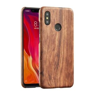 For Xiaomi mi 9 8 se mix 3 2s walnut Enony Rosewood Wooden Back Slim Case Cover