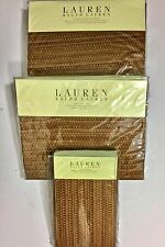 NIP-$375 RALPH LAUREN 4pc KING  SHEET SET INDIGO BALI Terra Cotta 100% COTTON