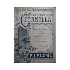 Lacome Paul Gitanilla Piano 4 Hands 1889 Sheet Music Sheet Music Score