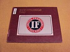 Automobile Quarterly Vol XII 12 No. 1, 1974 Isotta Fraschini Matra Mark II