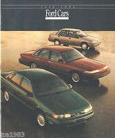 1992 FORD Brochure : AERO Van,MUSTANG,TAURUS,T-Bird,TEMPO,PROBE,ESCORT,EXPLORER,