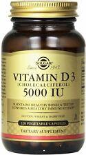 Vitamin D3 (Cholecalciferol) by Solgar, 120 capsule 5000 IU