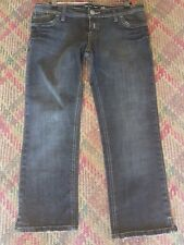 Ladies Roxy Jeans Black denim cropped Slim Fit size 12