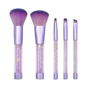 Real Techniques Everyday Essentials Brush Set - Pack of 5 White or Purple Set