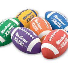 MacGregor® Rubber Junior Size Footballs - Multicolor Prism Pack of 6