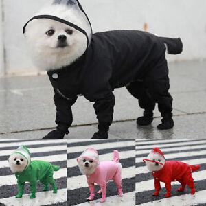 Puppy Dog Pet Four-legged All-inclusive Jumpsuit Raincoat Waterproof Clothes AU