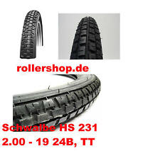 Reifen Velosolex nur HINTEN, 2.00 - 19 Zoll , Schwalbe HS231