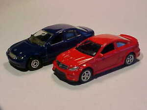 LOT 2: Mercedes C220 CDi  2005 W203 & C68 AMG 2015 Welly 1/64 Diecast Mint Loose