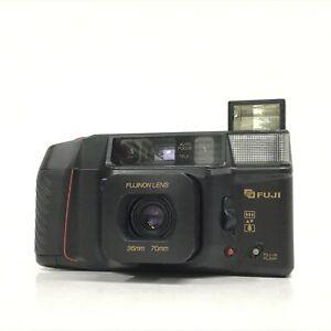 *EXC* Fuji Tele Cardia Super Date Black 35mm 70mm Point & Shoot Film Camera