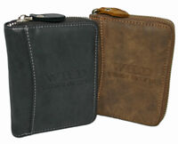 Geldbörse Geldbeutel mit umlaufendem Reißverschluss Portemonnaie Brieftasche
