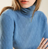 Womens Cashmere Blend Turtle Neck Pullover Knitted Sweater Winter Tops Slim Fit