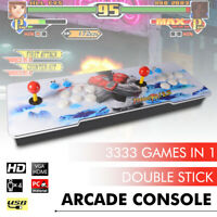 12S 3333 in 1 Video Games Arcade Console Gamepad Double Sticks for TV PC XC802US